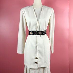 Vtg 90s School Girl Pleated Skirt Dress SM